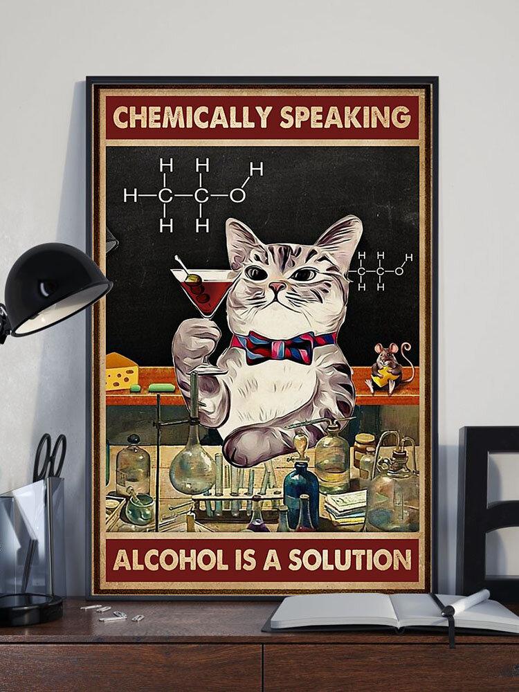 Chemical Gato Patrón lienzo pintura sin marco pared arte lienzo sala de estar decoración del hogar