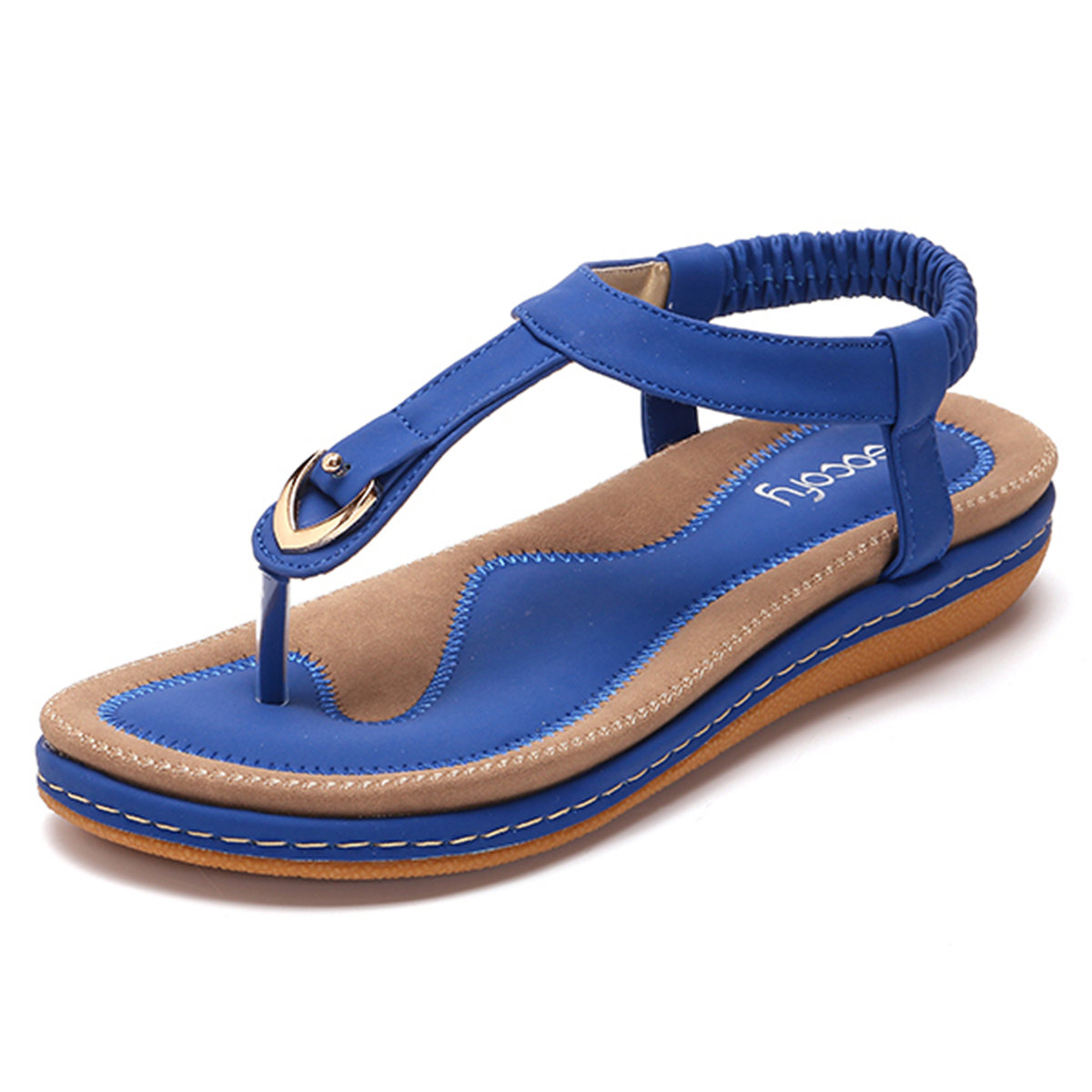 f905ac161 High-quality Large Size Comfortable Elastic Band Clip Toe Flat Beach Sandals  - NewChic