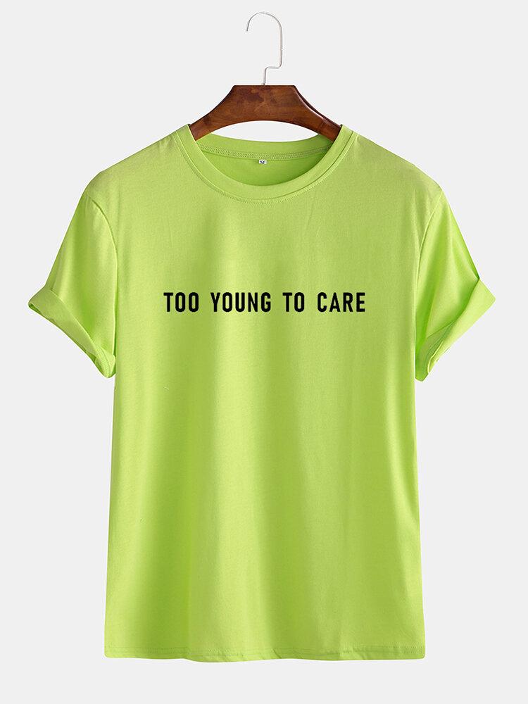 Mens Funny Cotton Slogan Little Tag T-shirts