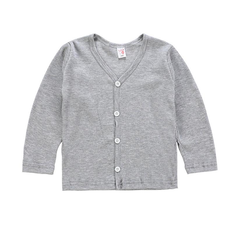 Soft Cotton Boys Girls Cardigan Kids Spring Autumn Coat For 3Y-11Y