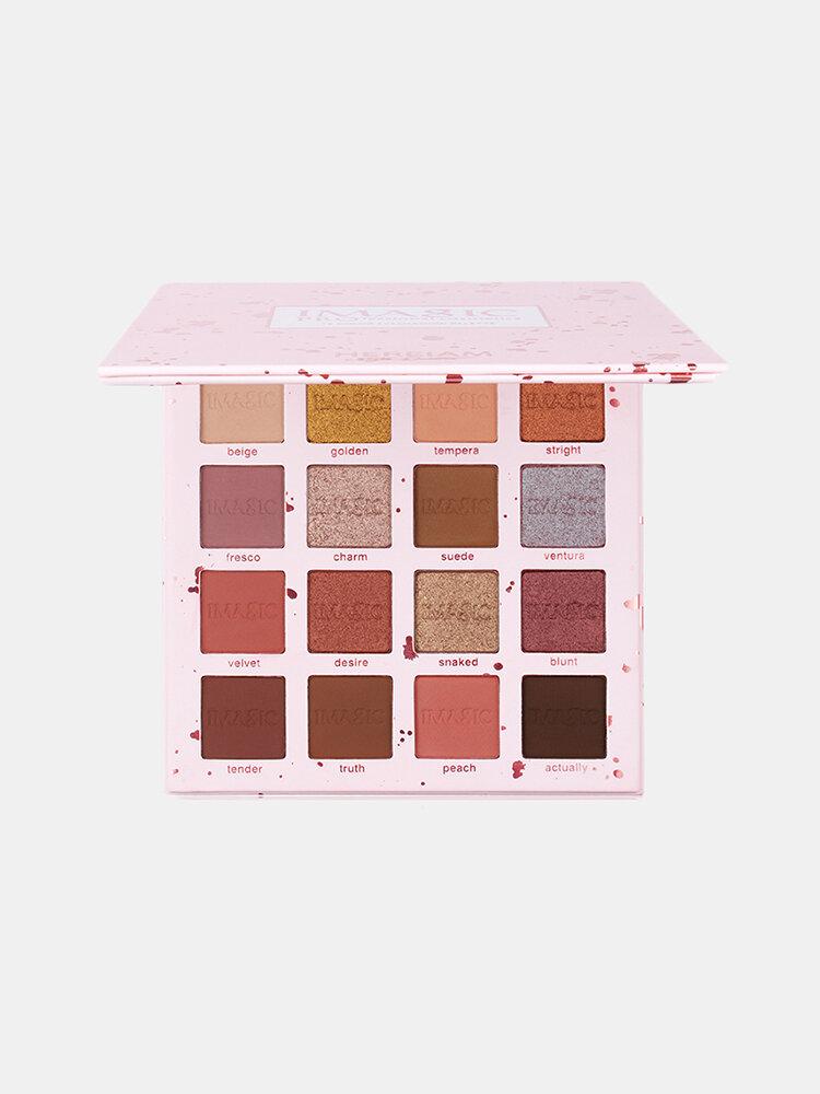IMAGIC Charming Glitter Eyeshadow 16Colors Nude Matte Shimmer Eyeshadow Palette