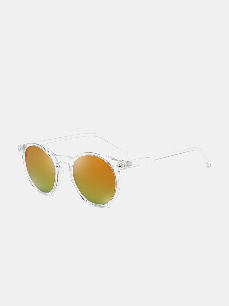 Unisex Transparent Full Frame Polarized UV Protection Coated Sunglasses