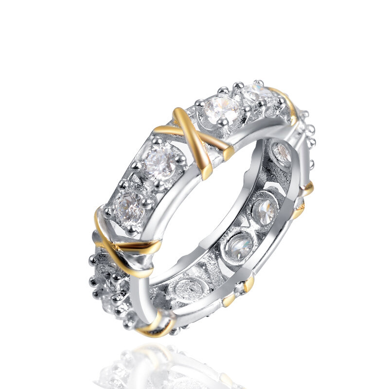 Fashion Simple Style Zirconia Inlay Knot Pattern Ring Gift for Women