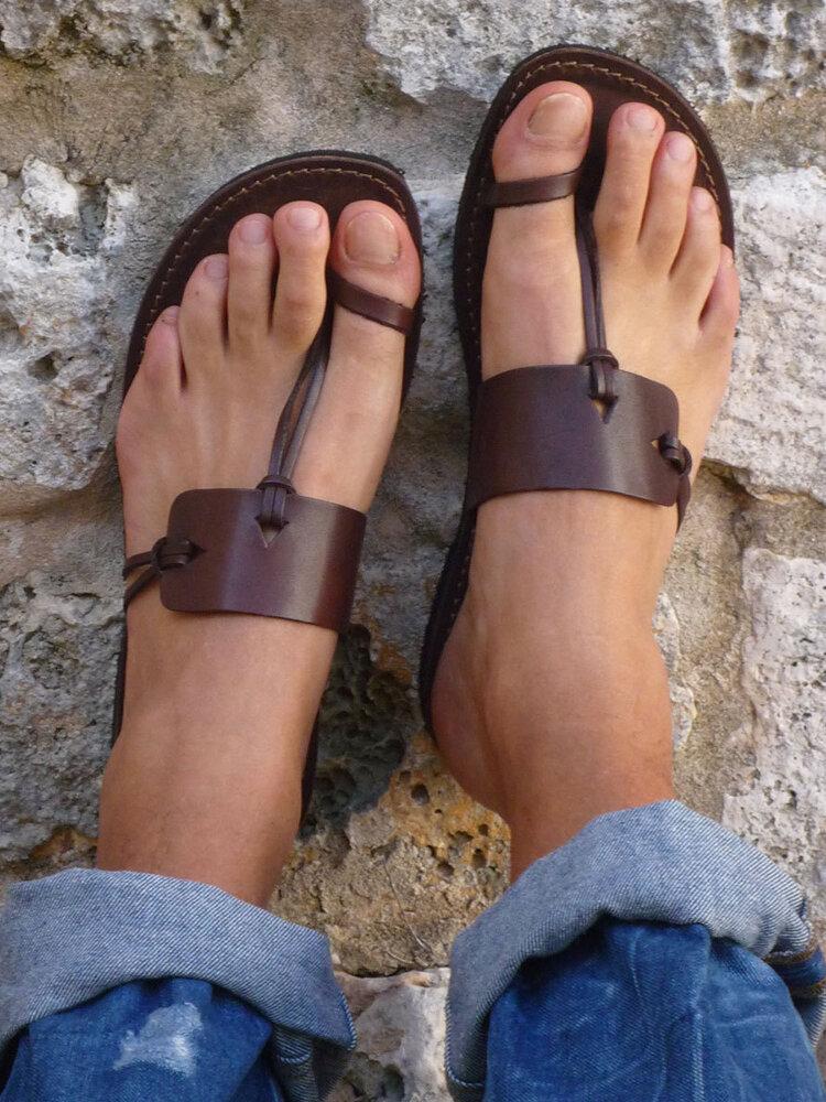 Plus Size Casual Beach Thumb Toe Flat Hausschuhe Für Damen