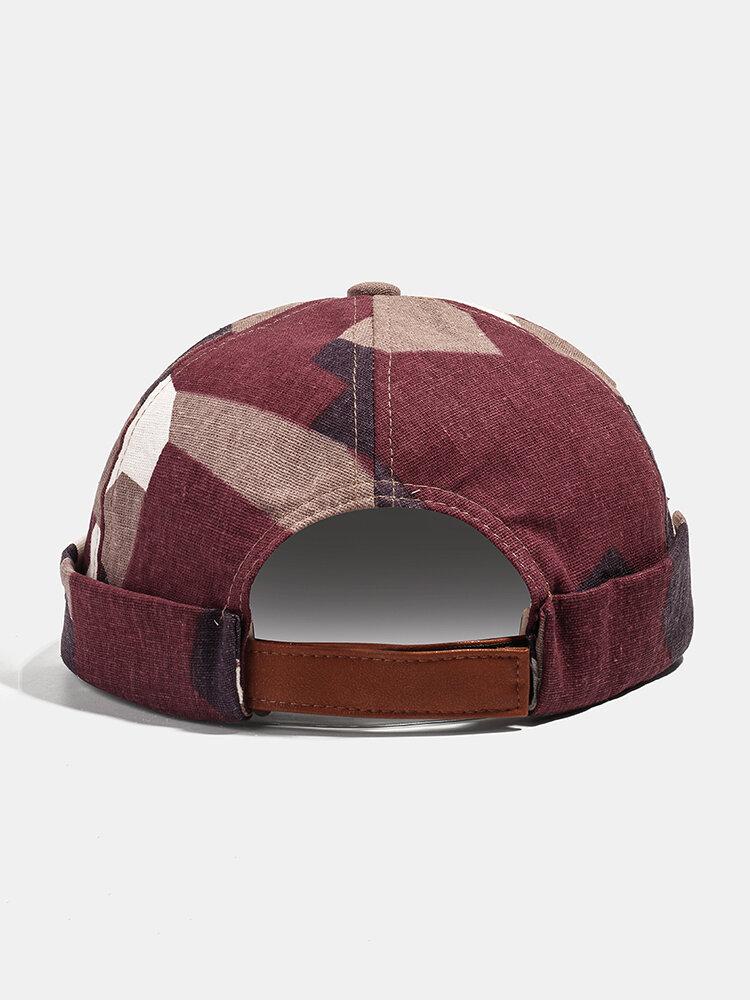 Collrown Men & Women Landlord Hat Summer Street Trends Melon Cap Vintage Innocent Metal Standard Brimless Hats