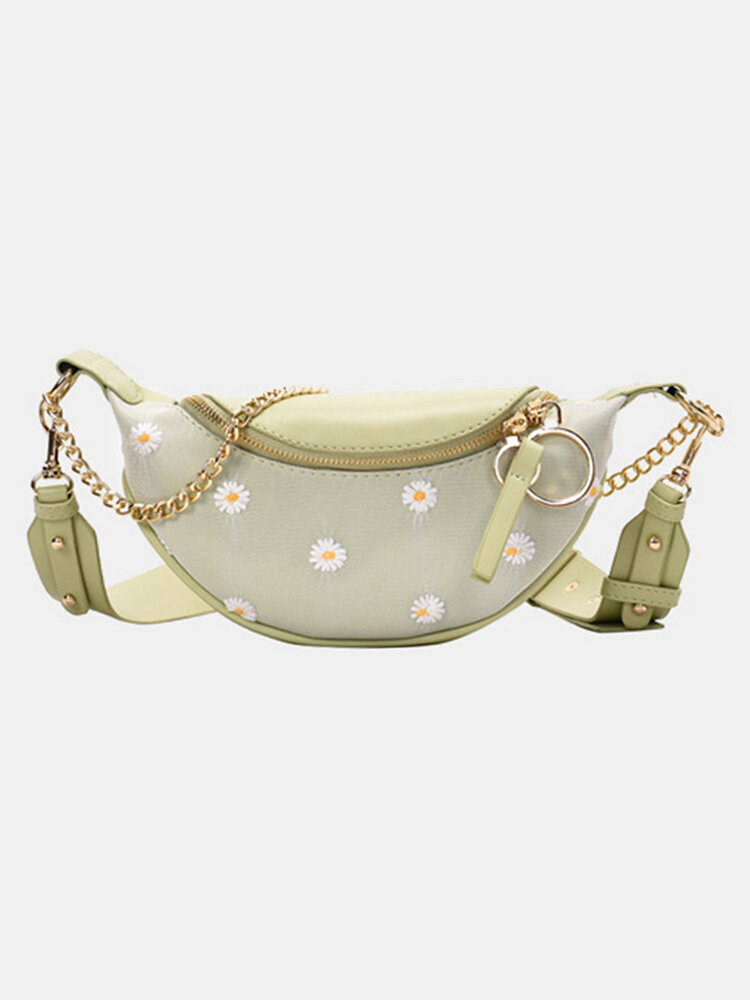 Women Dotted Daisy Printed Sling Bag