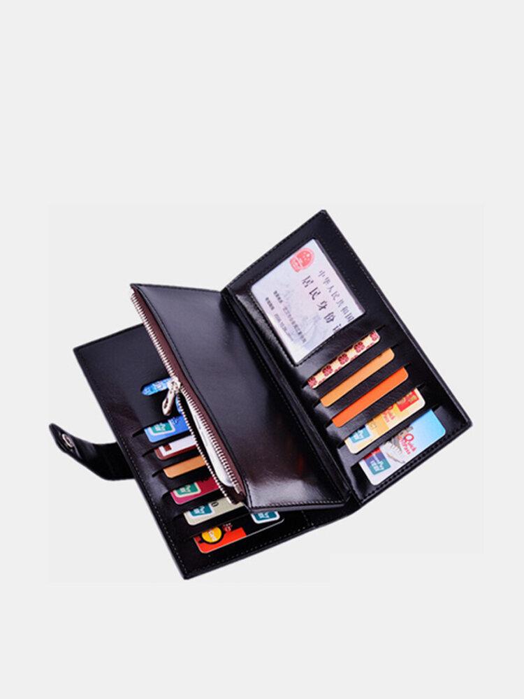 Women Men PU Wallet Purse Three Fold  Multi-Card Holder Wallet