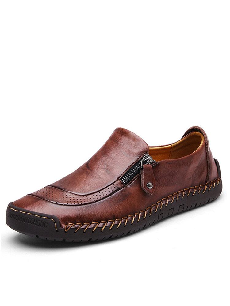 Повседневная обувь мужские туфли с застежкой-молнией