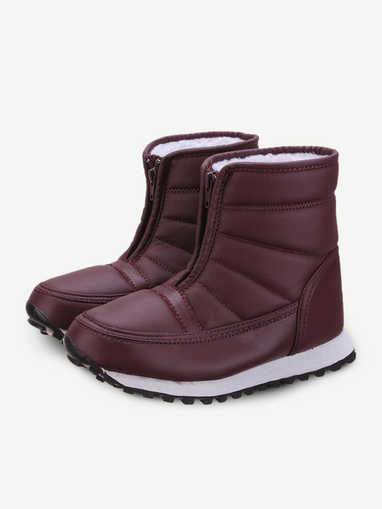 Stripe Ankle Flat Outdoor Soft Sole Boots