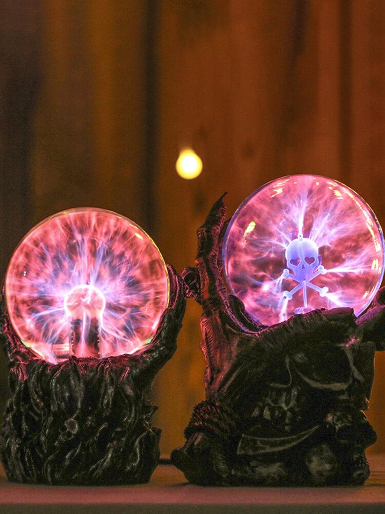 Halloween crâne boule magique drôle veilleuse créative lampe à Induction électrostatique décor à la maison