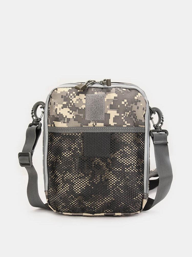 Men Women Nylon Sport Outdoor Tactical Army Ipad Shoulder Crossbody Bag