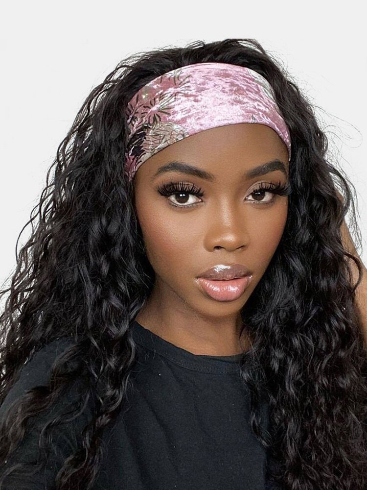 30 Colors Women Turban Hair Band Small Curly Exploding Head Full Head Cover Wig Band