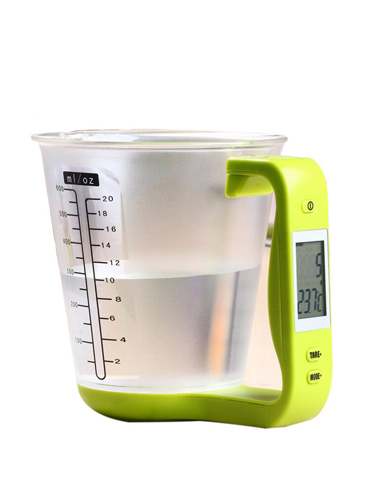 Digital Cup Kitchen Scales Electronic Measuring Tool Temp Measurement Household Jug Cups