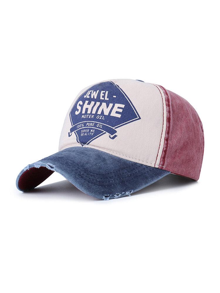 Result Washed Fine Cotton Baseball Cap Breathable Sun Hat Adjustable