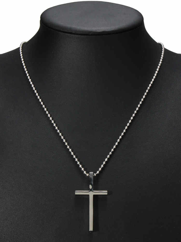 Newchic coupon: Simple Stainless Steel Cross Charm Necklaces