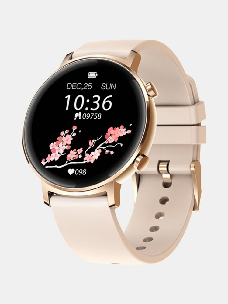 [30 Days Standby]1.3'' Full Touch Curved Screen bluetooth 5.1 Heart Rate Blood Pressure Monitor Female Cycle Tracker Smart Watch