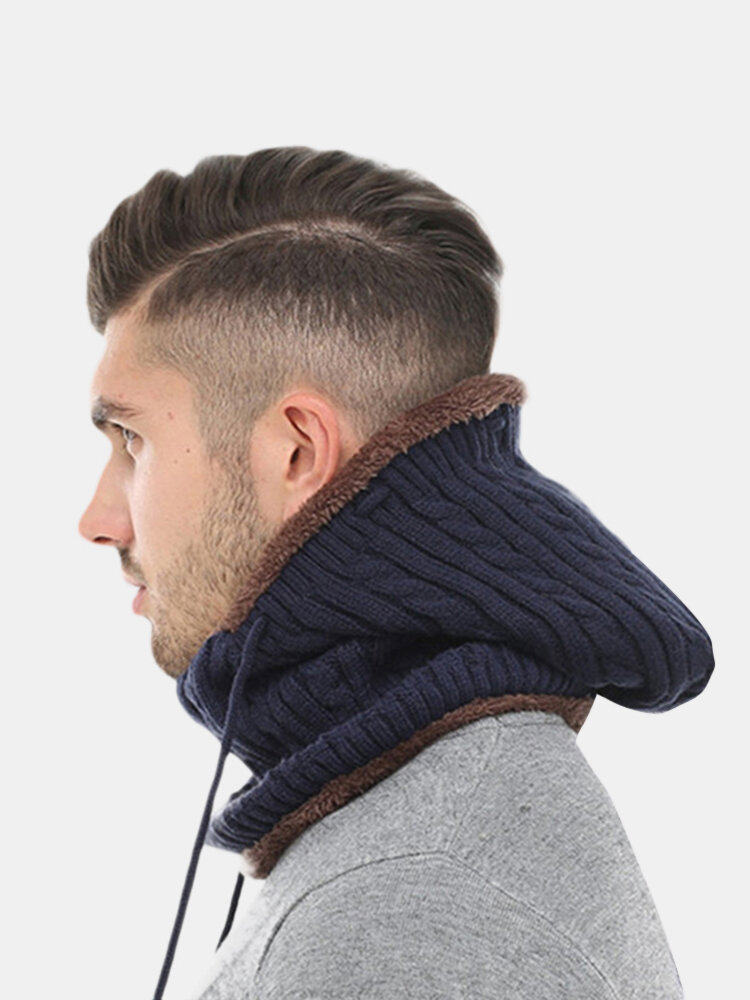 Women Men Couples Multi Use Balaclava Face Mask Winter Knit Scarf Skullies Beanies Hat Neck Warmer