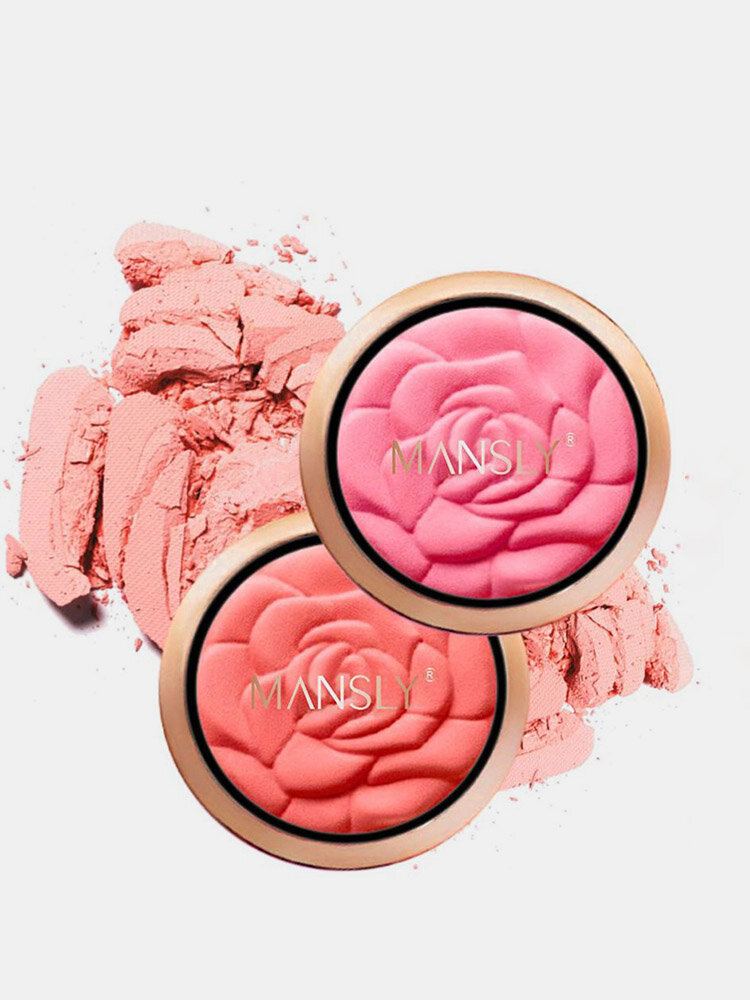 バラの花びらの絹のような通気性のある赤面ナチュラルヌードメイクは、肌の色を明るくする持続的な赤面