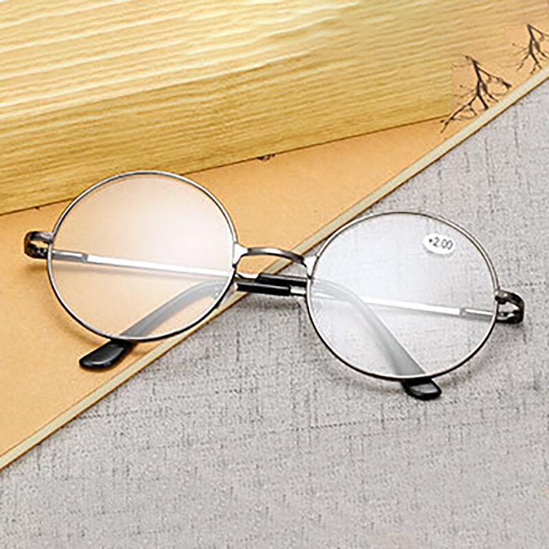 Round Spectacle Lesebrille Metallrahmen Brille Presbyopie Männlich Weiblich Retro-Lesebrille