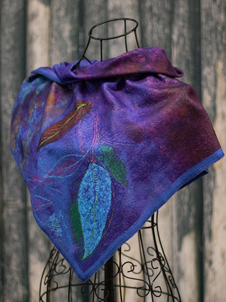 Women's Blue Casual Color Block Scarves & Shawls