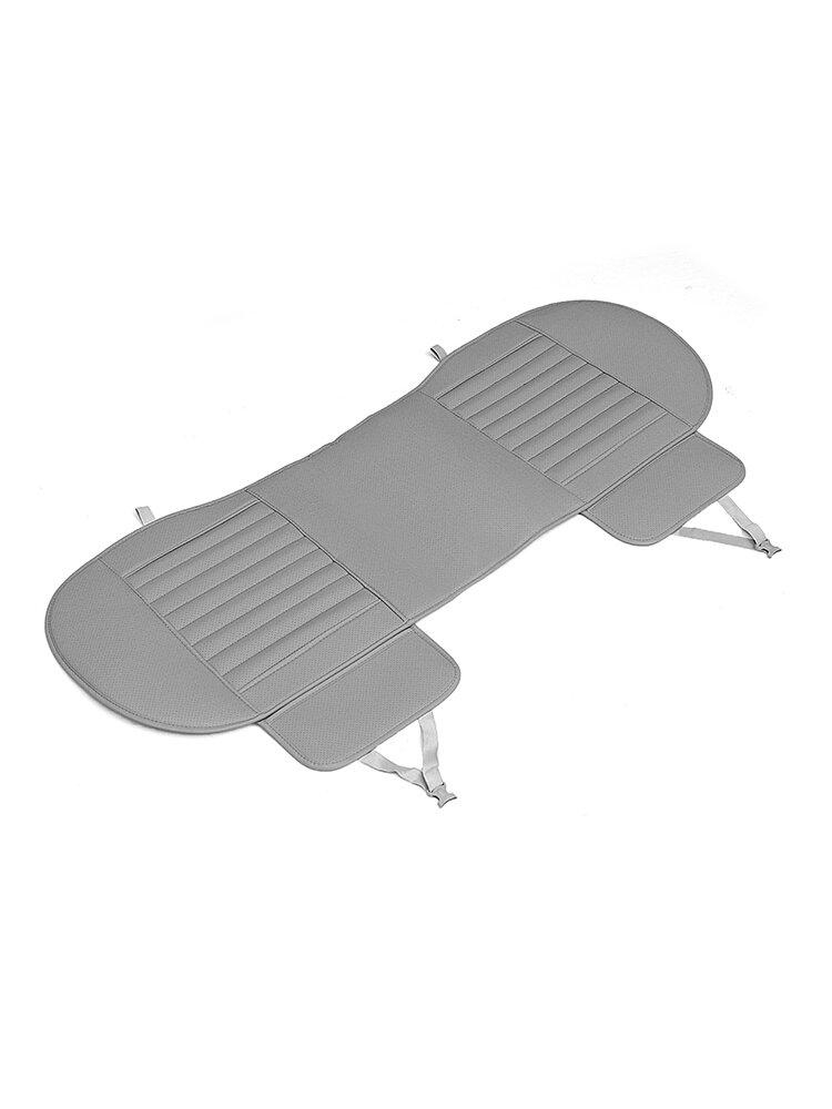 138 * 49 cm車のリアシートカバーユニバーサル竹炭クッションパッドPUブラックベージュグレー