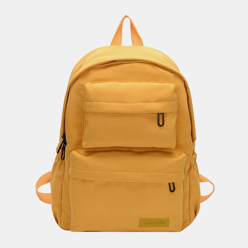 Women Casual Waterproof Multi-pocket Large Capacity Backpack