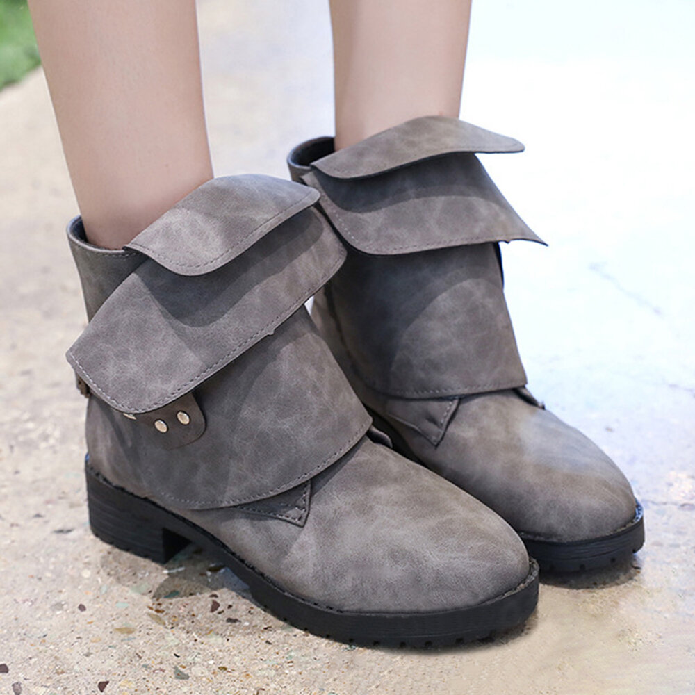 Low_Heel_Round_Toe_Buckle_Strap_Boots