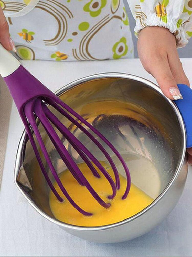 خلاط خفقت متعدد الوظائف لكريم الخبز الدقيق التحريك اليد الغذاء الصف البلاستيك المضارب المطبخ أدوات الطبخ