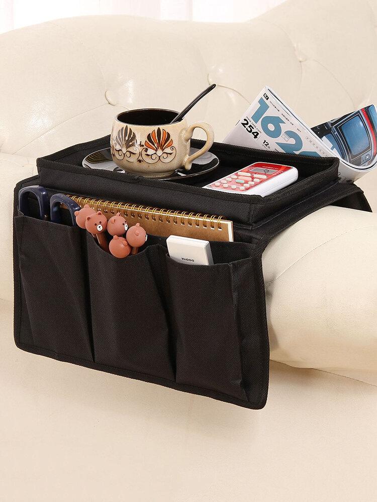 Sofa Armlehne Organizer Mit 4 Taschen Und Becherhalter Tablett Couch Sessel Hängende Aufbewahrungstasche Für TV Fernbedienung Handy