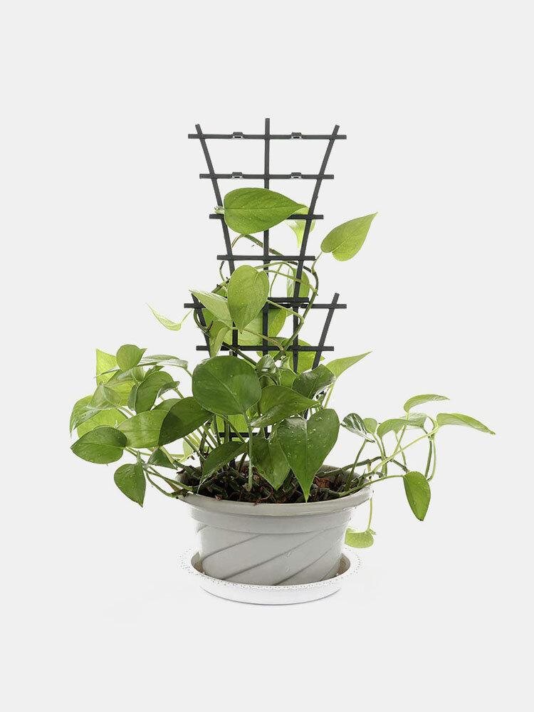 2/4/6/8PCS Plastic Superimposed Garden Plant Support DIY Climbing Rings Flower Vine Climb Rack Balcony Plant Flower Trellis