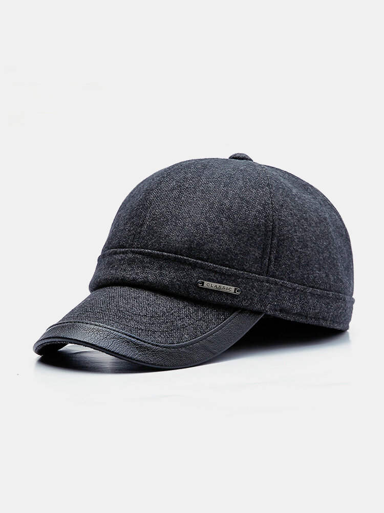 Mens Adjustable Simple Style Protect Ear Warm Windproof Baseball Cap Outdoor Sports Hat