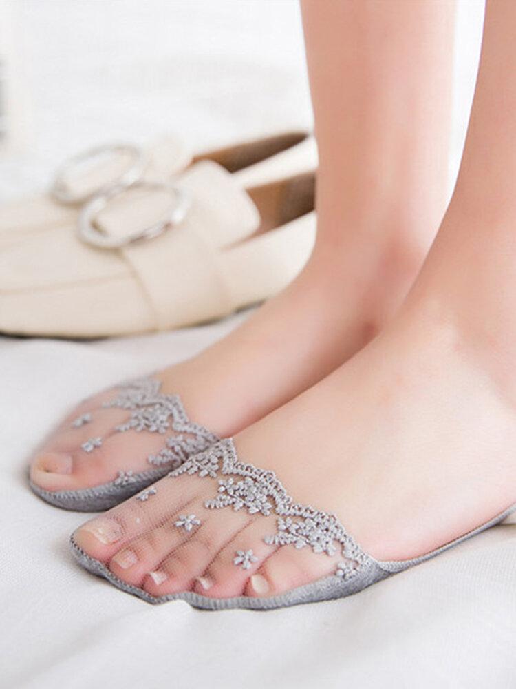 Lace Cotton Ankle Socks Summer Mesh Invisible Socks Comfortable Boat Socks