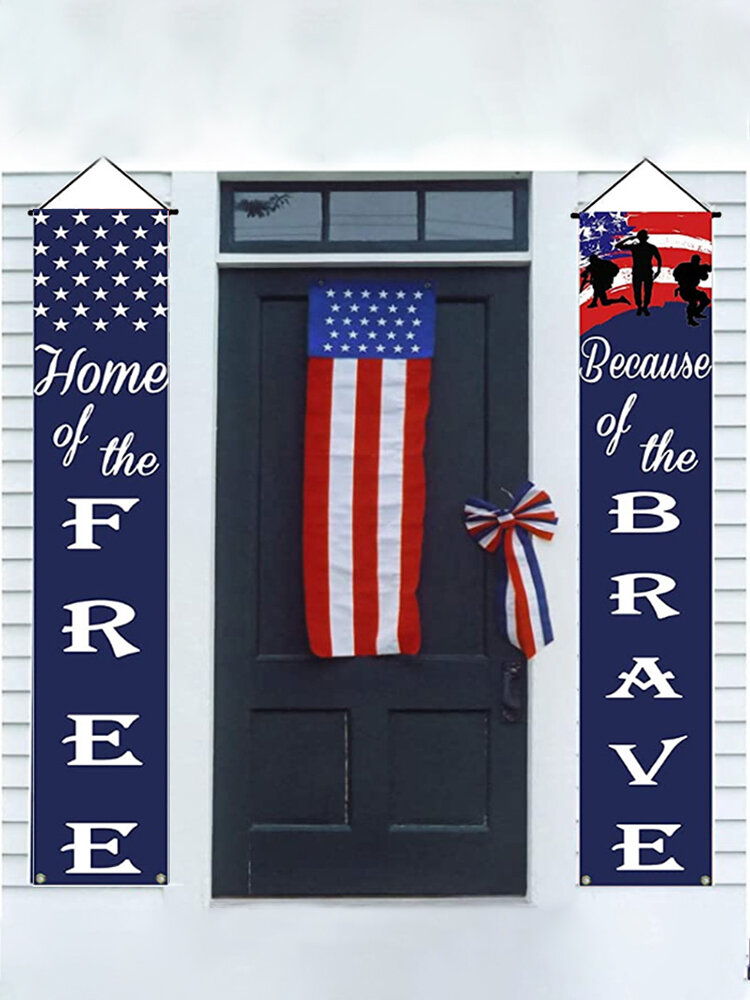 American Independence Day Banner Yard Indoor Outdoor Party Decor Door Wall Garden President Election Porch Sign