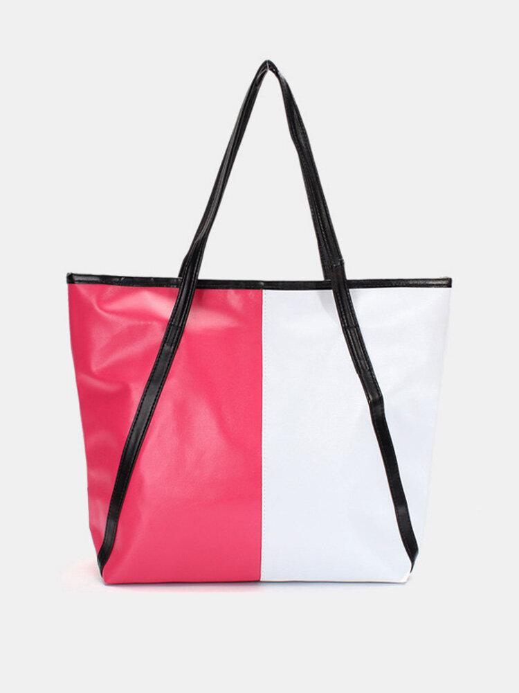 Stylish Assorted Color PU Leather Women Handbag