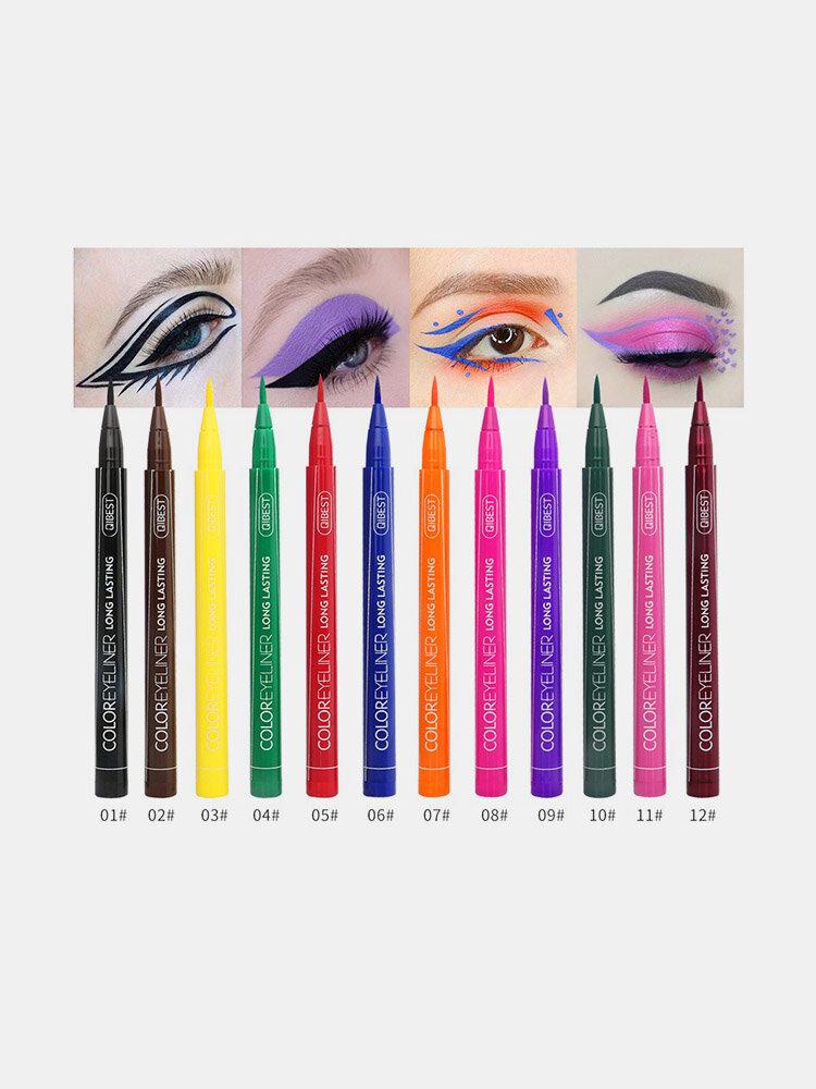 Colorful Liquid Eyeliner Pen Waterproof Not Blooming Eyeliner Long-Lasting Eyeliner Pencil