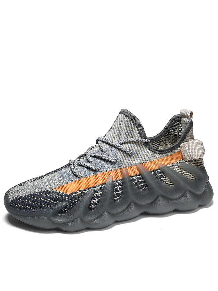 Men Chic Fluorescence Breathable Hard Wearing Casual Sport Sneakers