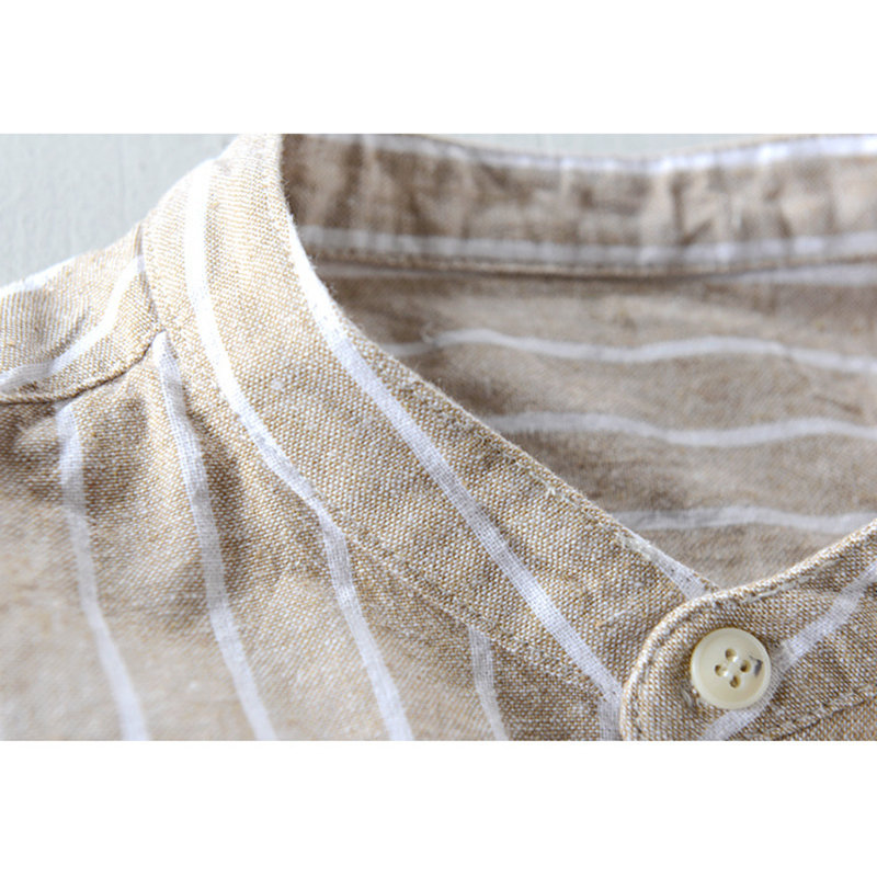 ChArmkpR Mens Cotton Striped Vintage Breathable Loose Fit Long Sleeve Fashion Casual Shirt Best Designer Online