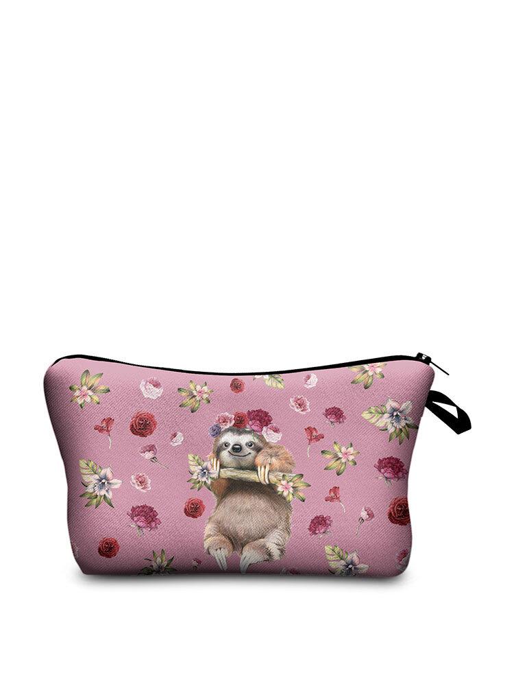 Women Travel Animal Prints Cartoon Cosmetic bag Storage Bag