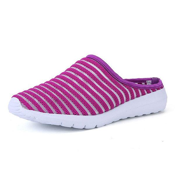 Stripe Breathable Mesh Beach Slippers