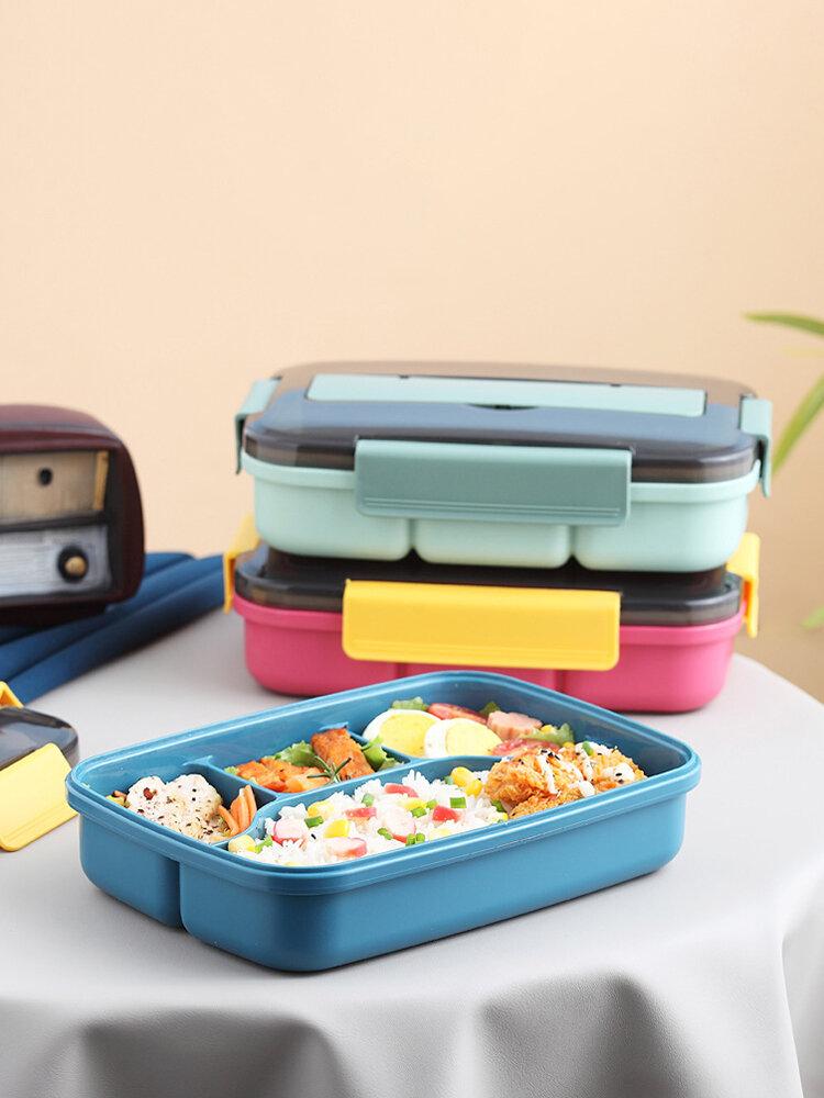 صندوق غداء ياباني ميكروويف مستطيل صندوق فواكه للنزهات مقصف بلاستيكي صندوق بينتو حاوية طعام مستلزمات أدوات مائدة للمطبخ