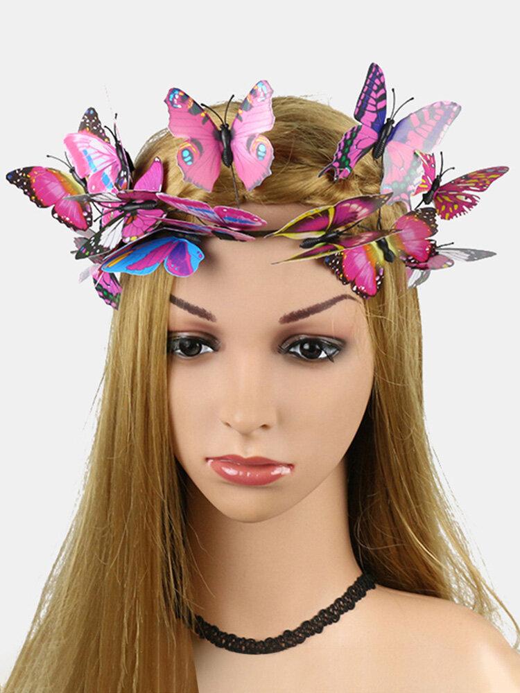 Coiffe de photographie de photographie de mariée papillon papillon en trois dimensions de Noël