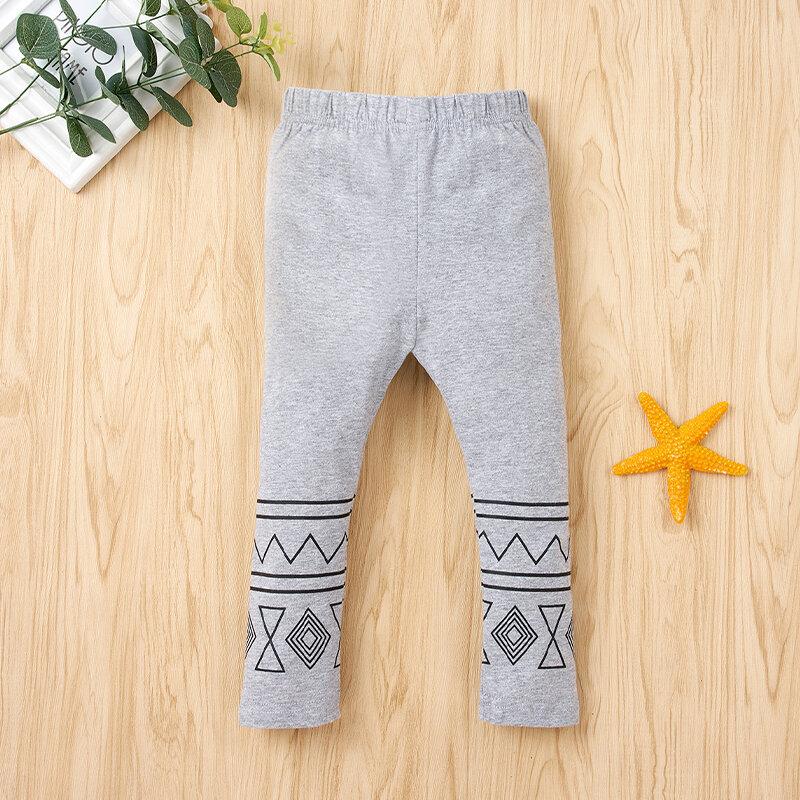 Crianças impressas Soft Casual Calças para 1-7A