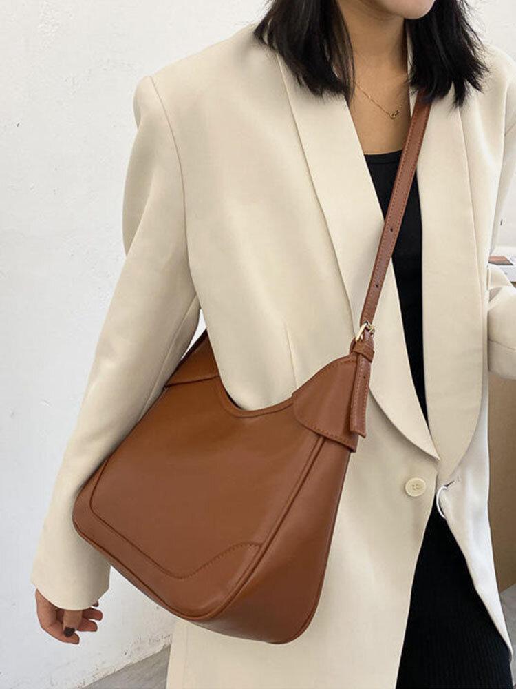 महिला बड़ी क्षमता रेट्रो क्रॉसबॉडी बैग कंधे बैग