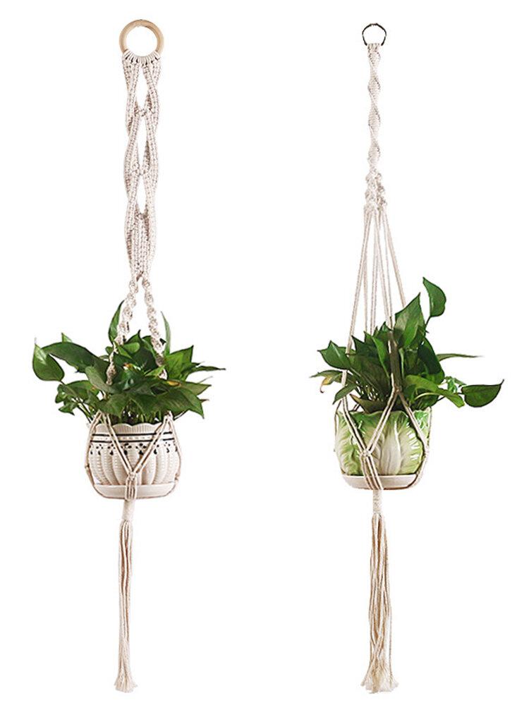 39 Inch Macrame Plant Hangers Indoor Outdoor Hanging Planter Basket Hanging Plant Holders Decorative Macrame Hangers Decor