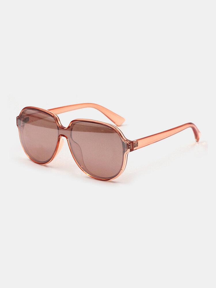 Unisex Square Full Frame UV Protection Fashion Simple Sunglasses
