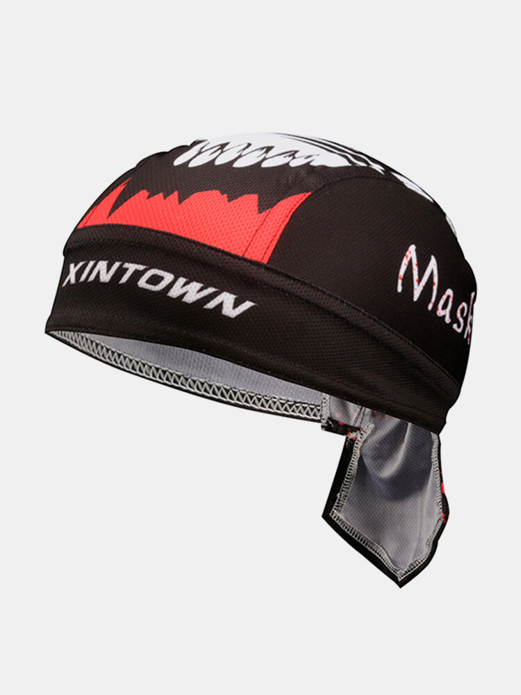 Mens Pirate Hat Breathable Foldable Sports Bandana Cap Quick Dry Cycling Sunscreen Headpiece