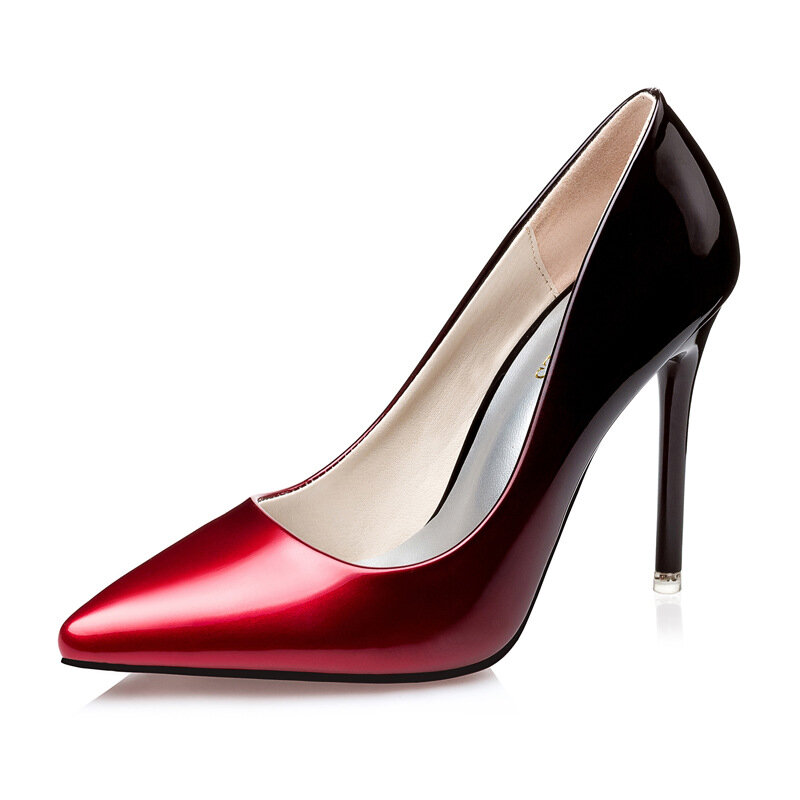 discount price pretty nice search for official Color Blocking Pointed Toe High Heel Lady Pumps Stilettos