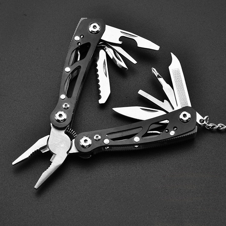 9 In 1 Foldable Multi-function Pliers Stainless Steel Portable Tools With Nylon Bag