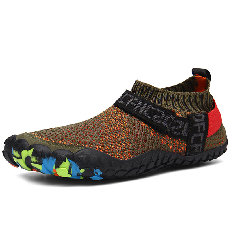 Men Fabric Water Friendly Breathable Toe Protective Casual Sneakers