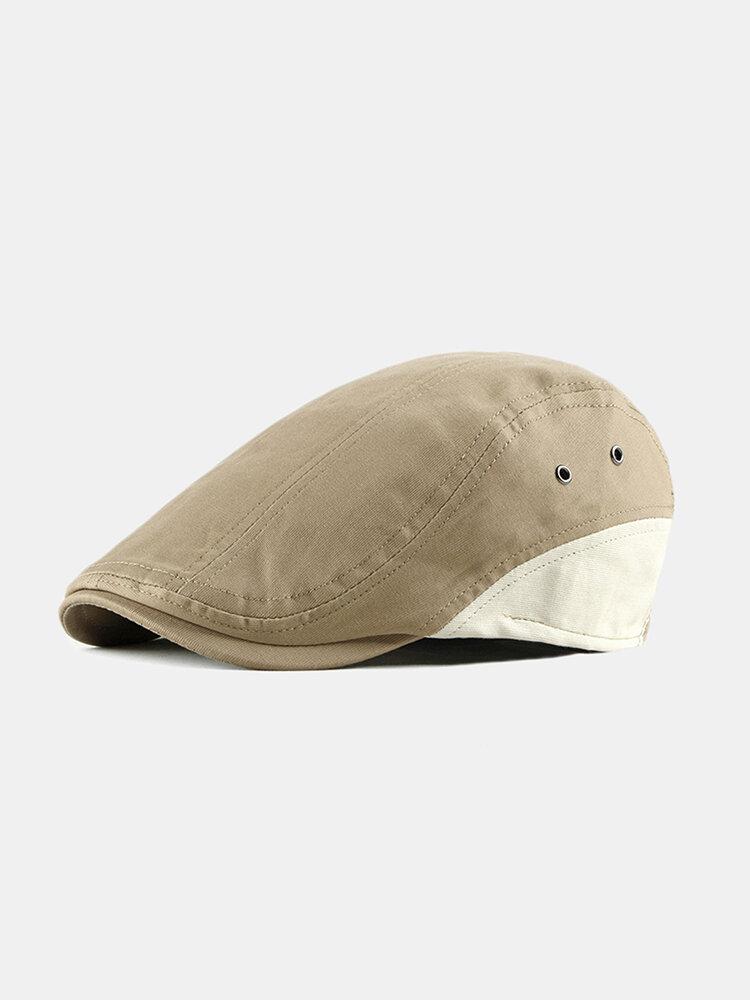 Mens Beret Caps Casual Outdoor Visor Forward Hat